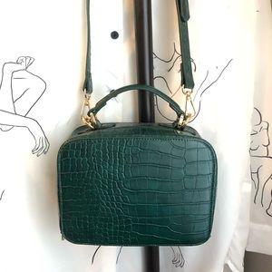 NWOT Faux Croc Crossbody Bag